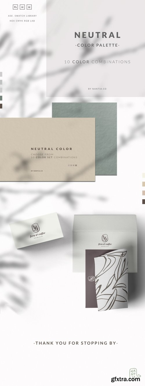 CreativeMarket - Neutral Color Palette collection 3673540