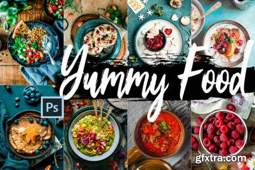Yummy Food Theme Color Grading photoshop actions