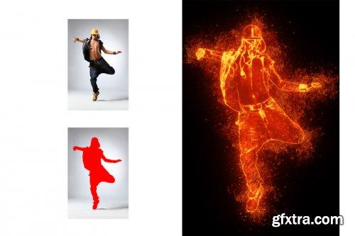Burn Light Photoshop Action