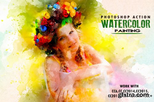 Watercolor Painting Photoshop Actions
