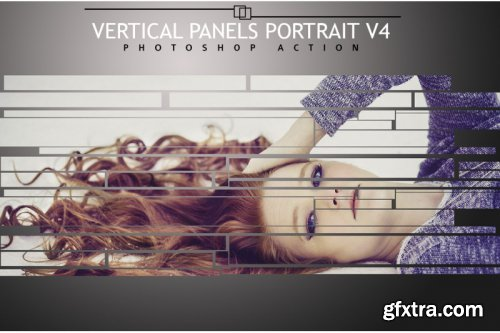 Vertical Panels Portrait V4 Photoshop Action