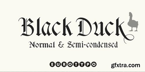 Black Duck Font Family - 2 Fonts