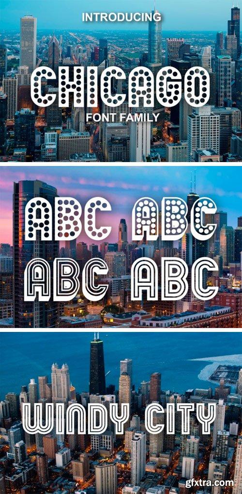 Chicago Font Family