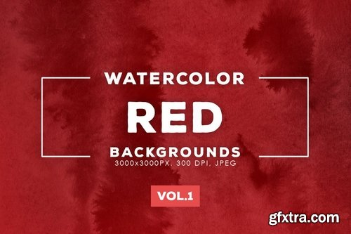 Red Watercolor Backgrounds Vol.1