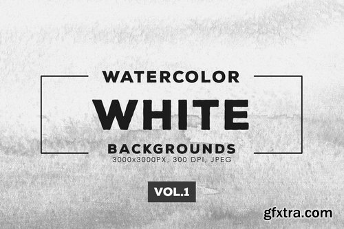 White Watercolor Backgrounds Vol.1