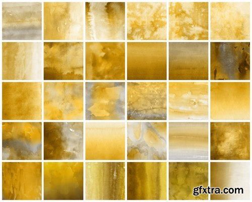 Yellow Watercolor Backgrounds Vol.1