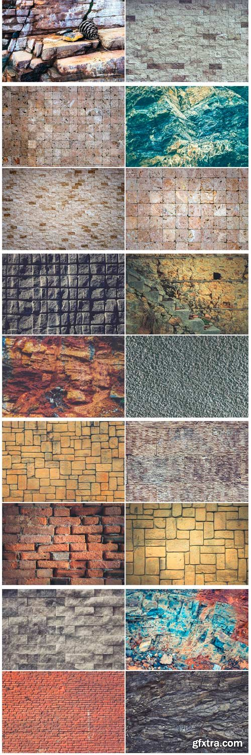 CM - 40 Stone Wall Background Textures 3737569