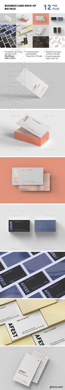 GraphicRiver - Business Card Mock-up Big Pack 23563450