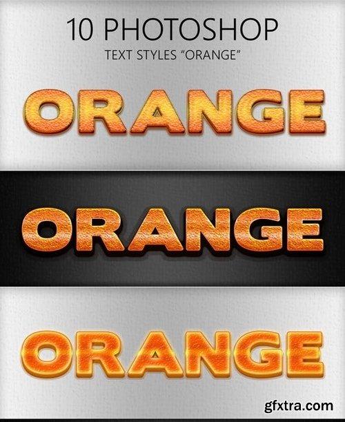 GraphicRiver - 10 Orange Photoshop Styles 6029493