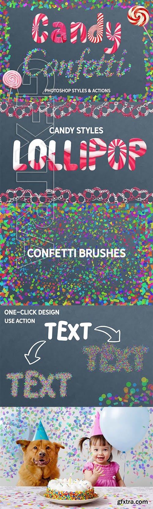 CreativeMarket - CANDY & CONFETTI Styles Photoshop 3698395