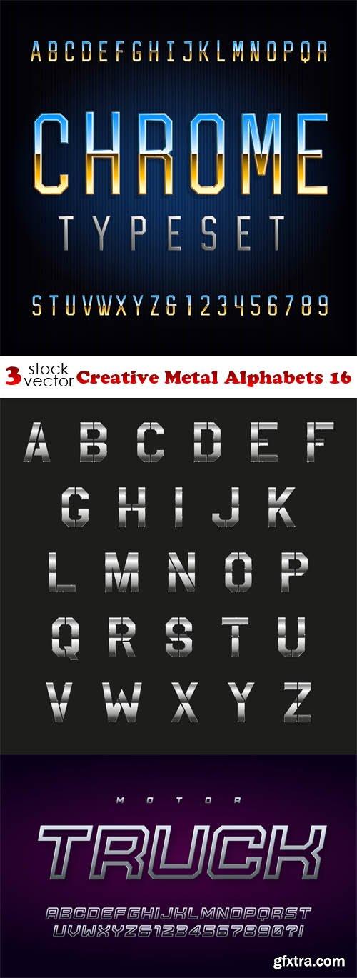 Vectors - Creative Metal Alphabets 16