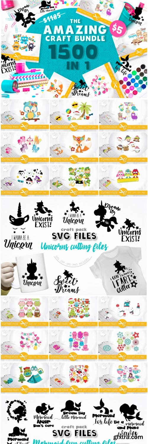 The Amazing Craft Bundle - 1500 Designs in 1 Pack