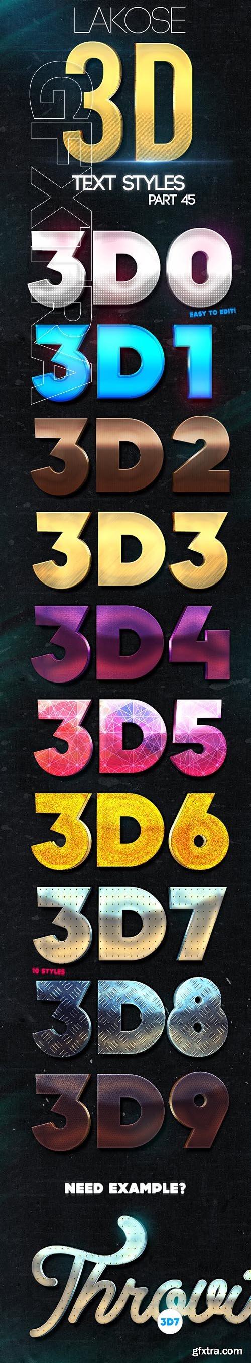 GraphicRiver - Lakose 3D Text Styles Part 45 23661732