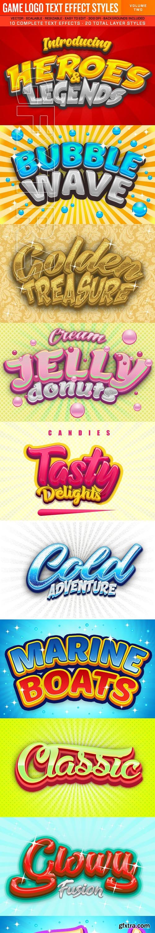 GraphicRiver - Game Logo Text Effect Styles 2 23685438