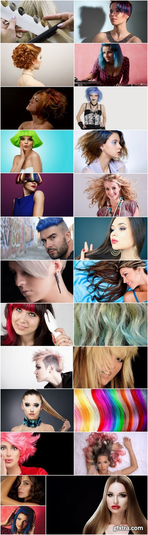 Colored hair hairstyle luxury girl woman 25 HQ Jpeg