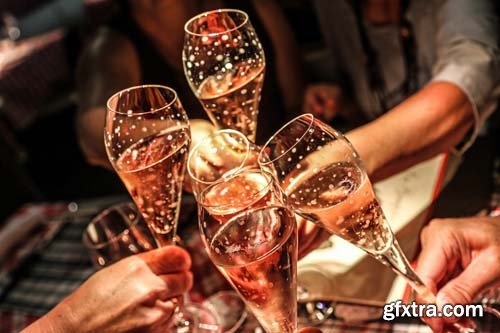 Photo - Champagne Glass - 9xJPGs