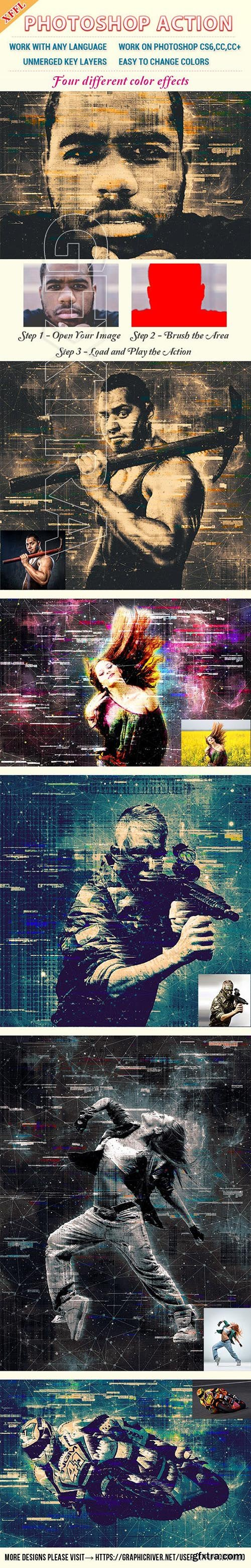 GraphicRiver - Glitch Mottled Effect Photoshop Action 23397011