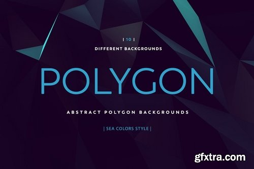 Polygon Abstract Backgrounds Sea colors style