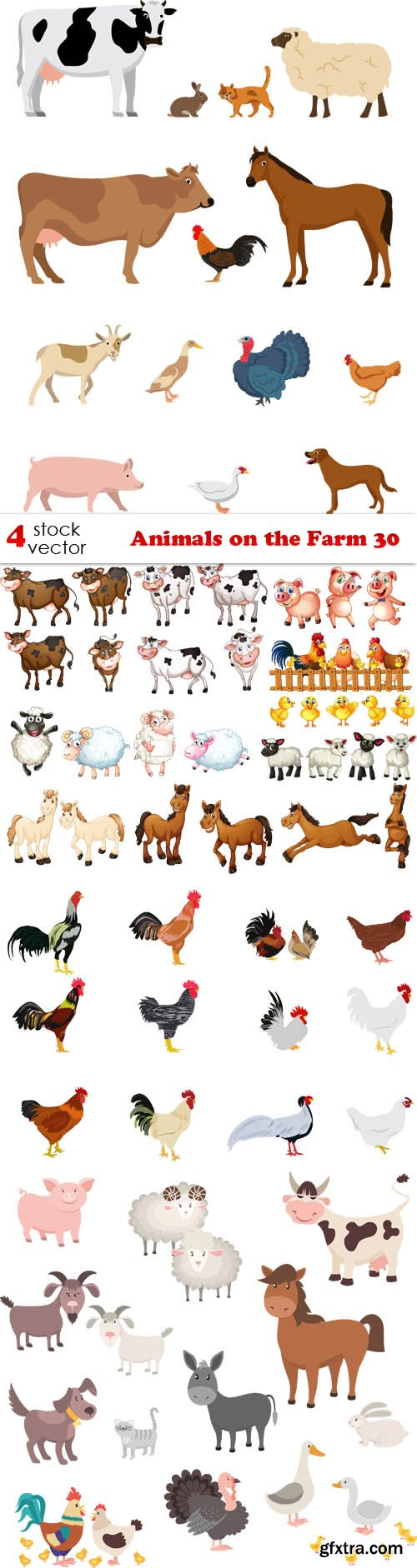 Vectors - Animals on the Farm 30