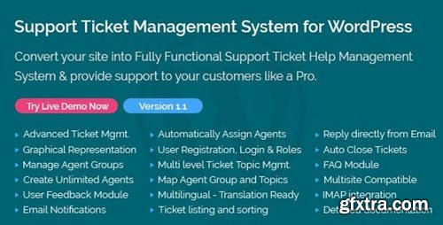 CodeCanyon - Support Ticket Management System for WordPress v1.1 - 21946601