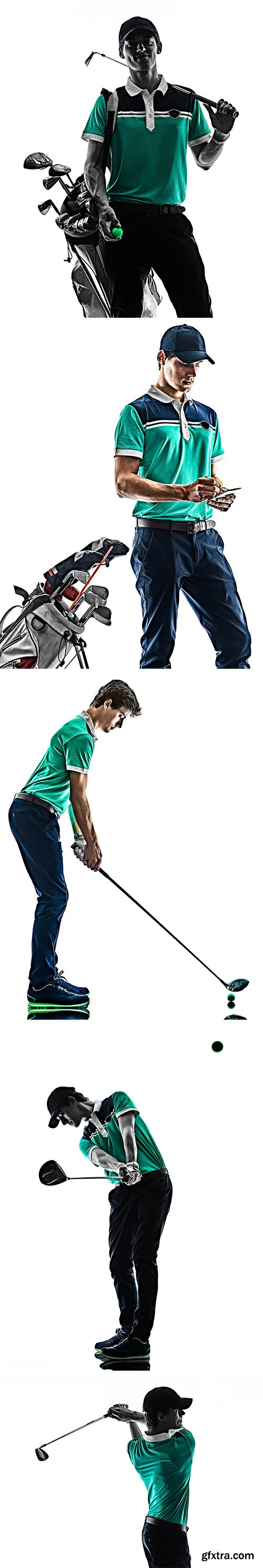 Golfer Isolated - 10xJPGs