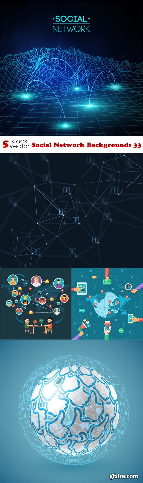 Vectors - Social Network Backgrounds 33