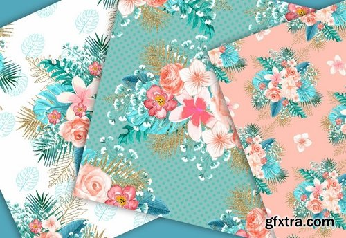 Paradise design and digital paper pack