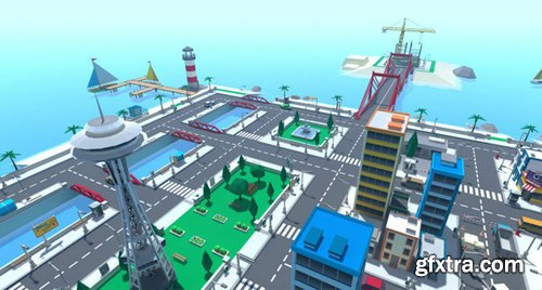 Cgtrader - 3D Cartoon Level Pack Vol 1 Low-poly 3D model