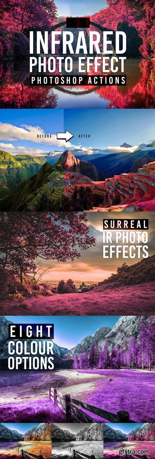 8 Infrared Effect Actions for Photoshop