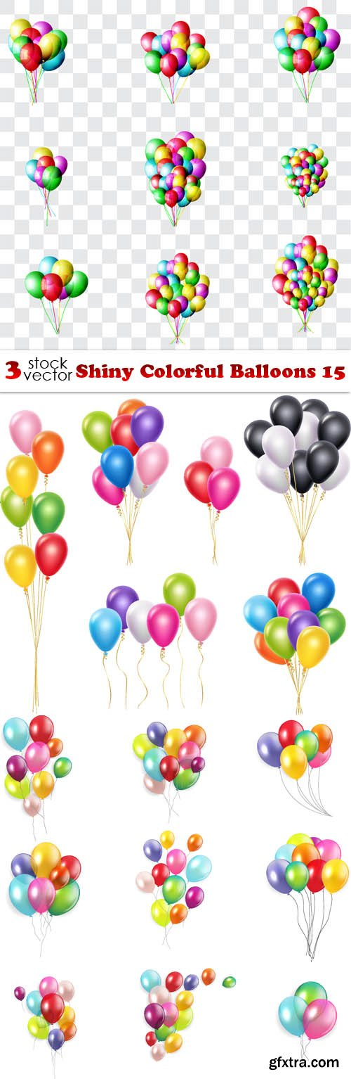Vectors - Shiny Colorful Balloons 15