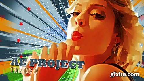 Videohive - Freeze Frame Pop Art Retro Trailer - 23670369