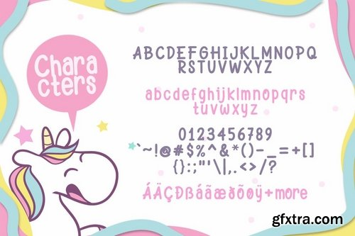 Happy Unicorn font