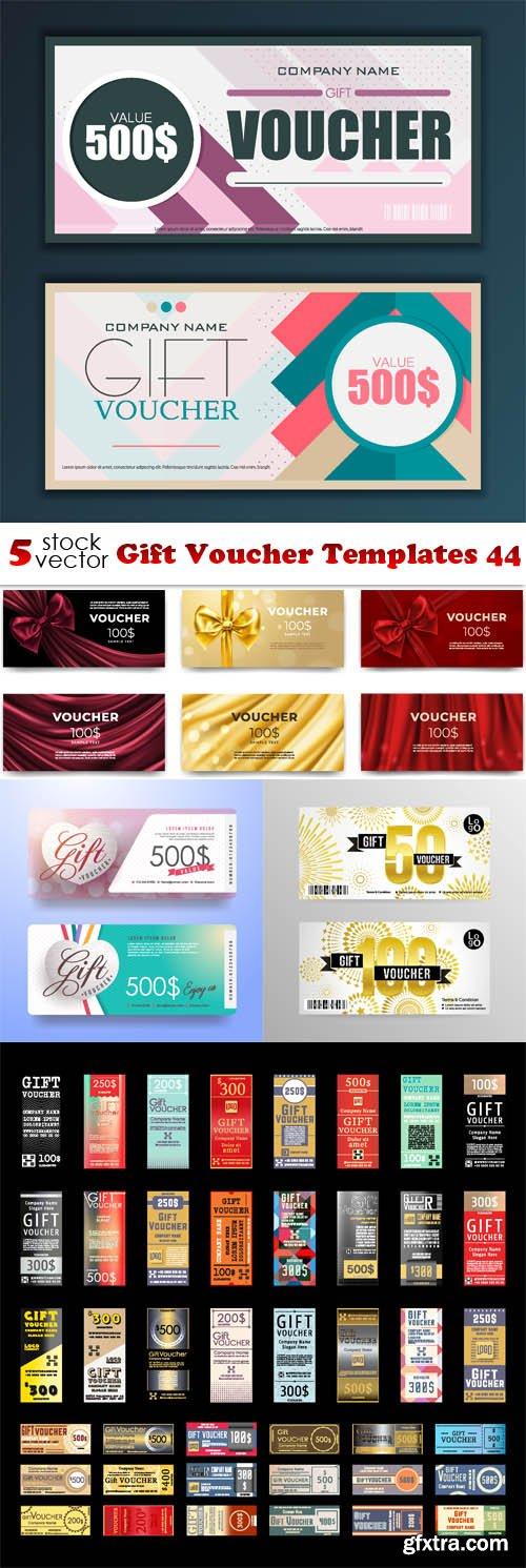 Vectors - Gift Voucher Templates 44