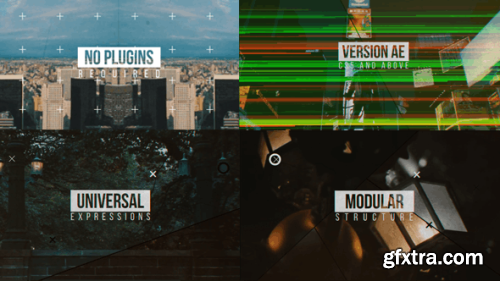 VideoHive Modern Glitch Opener \\\\ Line Slideshow 12050282
