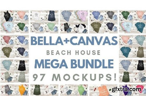 CreativeMarket Ultimate T-Shirt Mockup Mega Bundle 3732431
