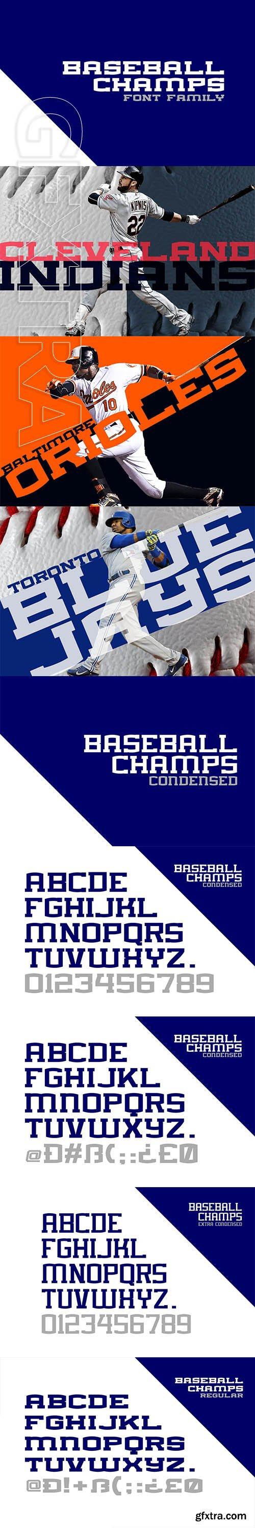 CreativeMarket - BASEBALL CHAMPS FONT FAMILY 3754383