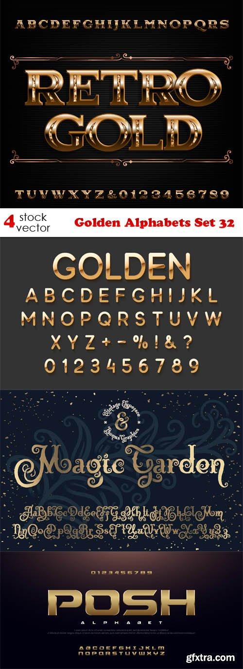 Vectors - Golden Alphabets Set 32