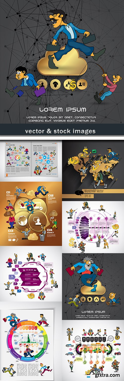 Business infographics options elements collection 53