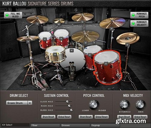 Room Sound Kurt Ballou Signature Series Drums KONTAKT-AwZ
