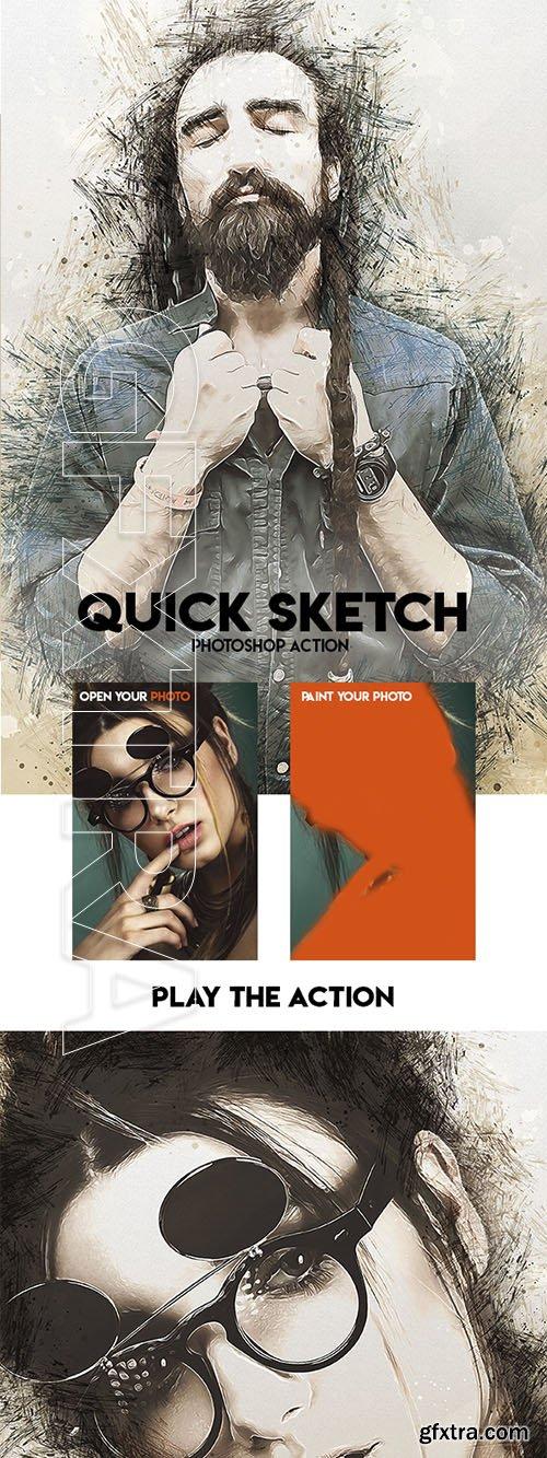 GraphicRiver - Quick Sketch Photoshop Action 23697407