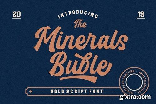 CM - Minerals Buble Bold Script Font 3755498