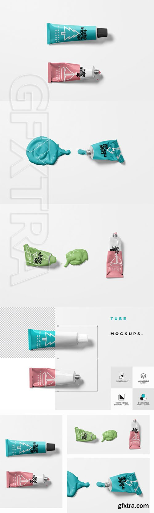CreativeMarket - Paint Tube Mockups 3525407