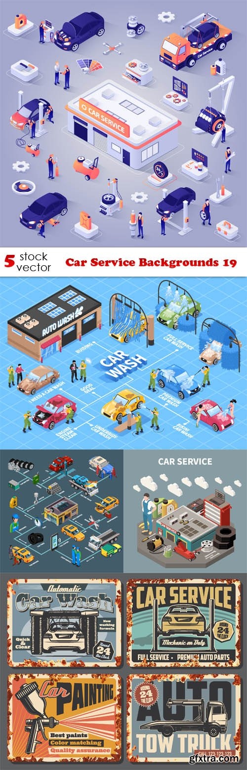Vectors - Car Service Backgrounds 19
