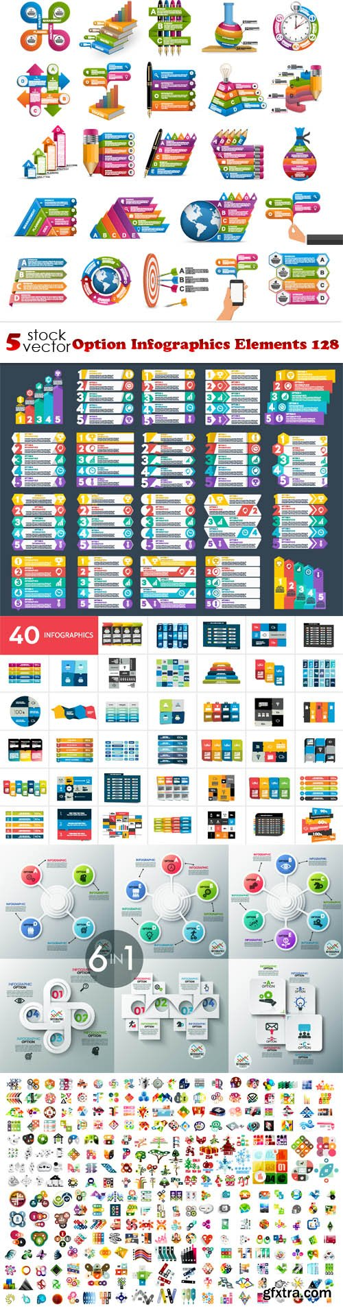 Vectors - Option Infographics Elements 128
