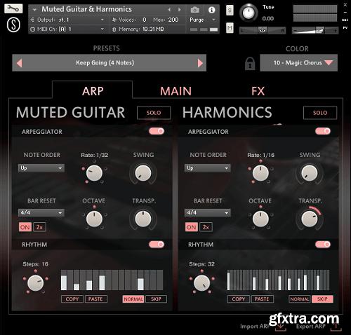 Sonuscore Origins Vol 6: Muted Guitar & Harmonics KONTAKT-AwZ
