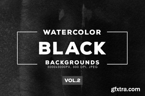 Black Watercolor Backgrounds Vol.2