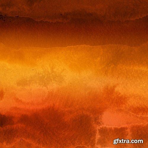Orange Watercolor Backgrounds Vol.2
