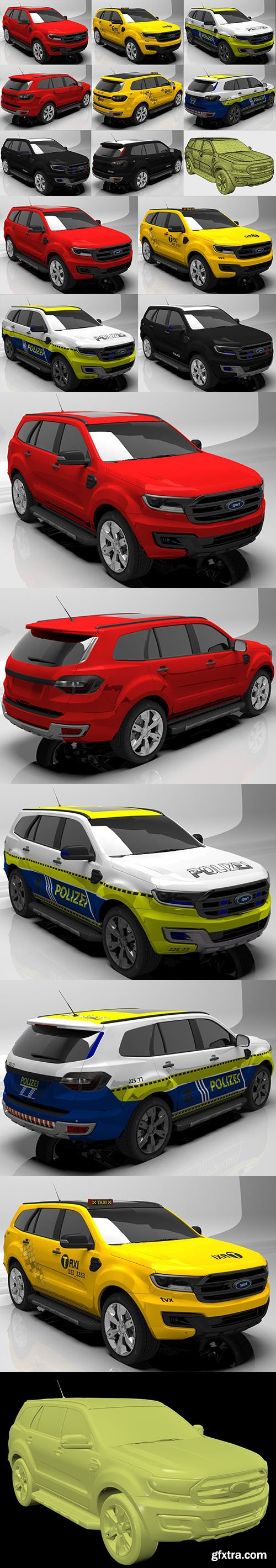 Cgtrader - Sport taxi police 3D model