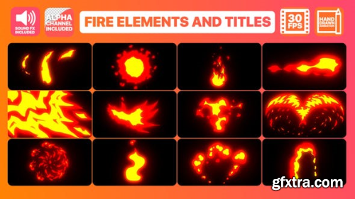Videohive Flame Elements And Titles | After Effects Template 23705320