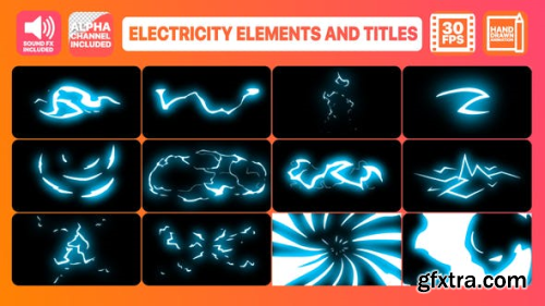Videohive Electricity Elements And Titles | After Effects 23748523